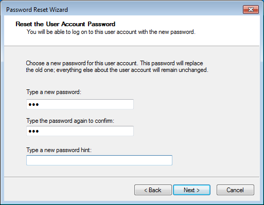 unlock windows 7 computer by password reset disk