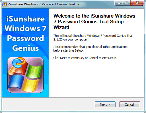 install-windows-7-password-recovery-tool