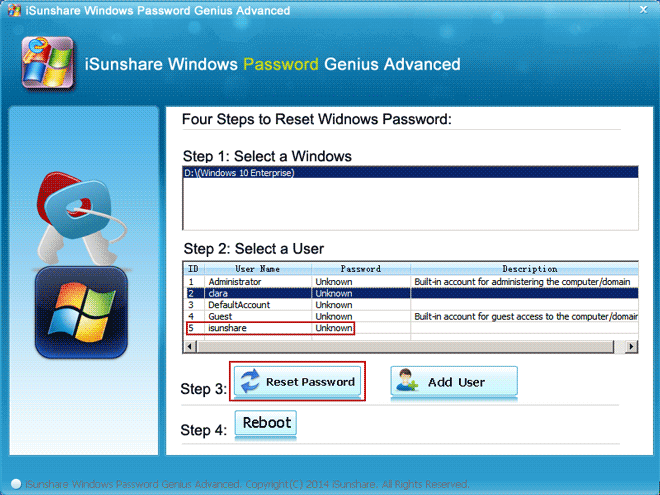 reset forgotten password on locked samsung laptop