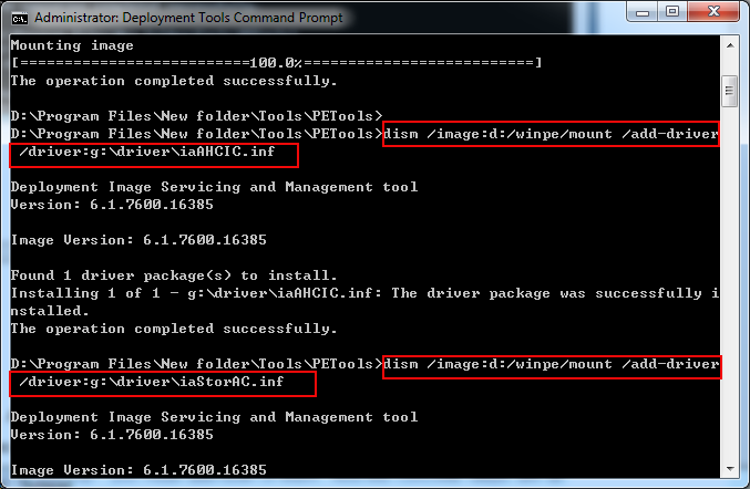 How to add the last Intel AHCI driver to Windows 7 PE disk