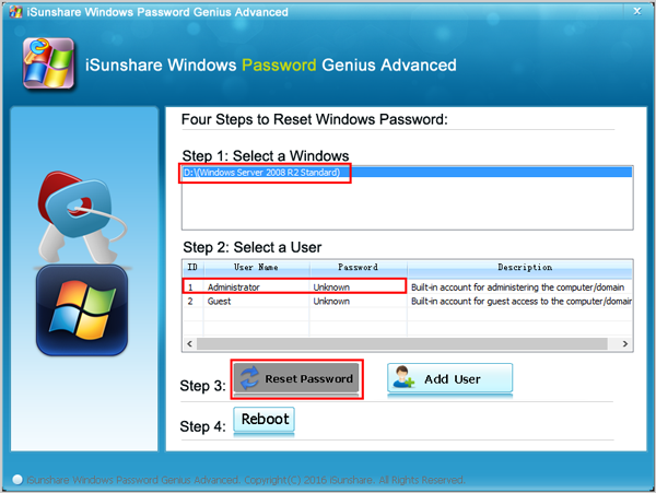 recover windows server 2008 domain admin password