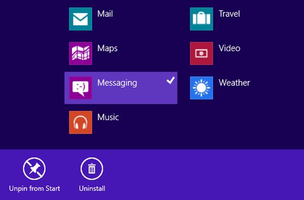 how to delete programs on windows 8