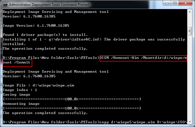 unmount-windows7-pe-image