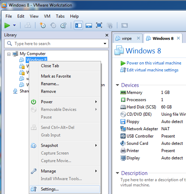 How to reset windows 8 password on vmware if forgot for How to choose windows