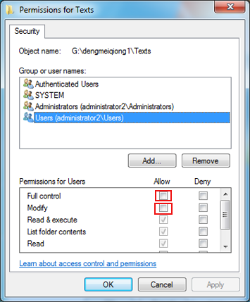 select-users-and-permission-for-users