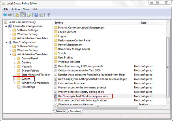 windows 7 group policy editor