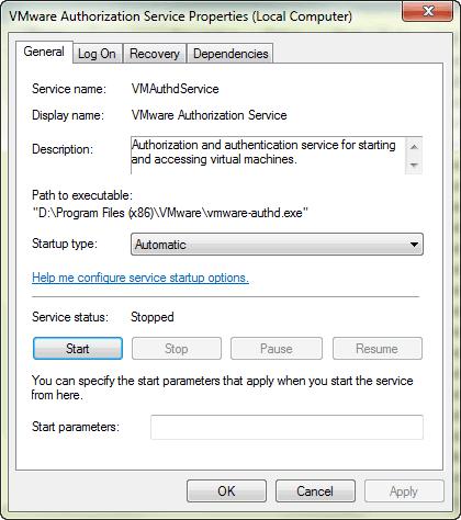 vmware-authorization-service-properties