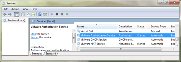vmware-authorization-service-started