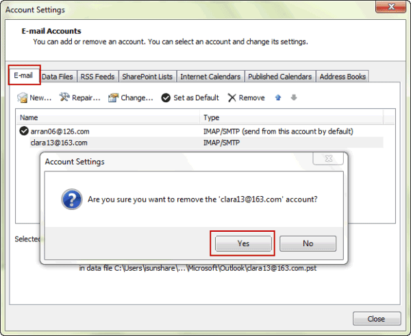 How To Setup And Delete E Mail Account In Outlook 2010