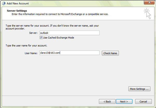 exchange-account-server-settings