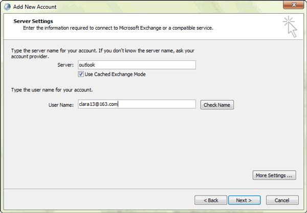exchange-account-server-settings