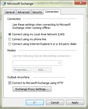 outlook-account-connection-settings