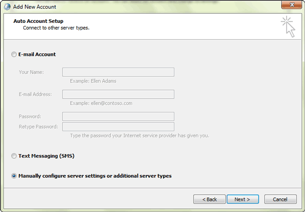 select-manual-configure-server-settings