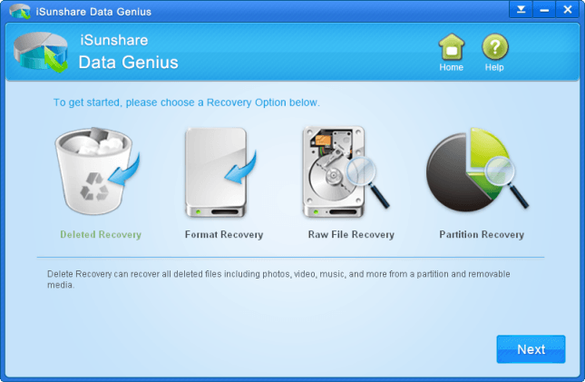 choose data recovery option for dell server data recovery