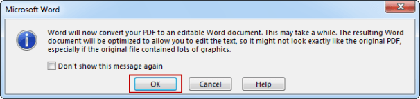 open PDF file in Word 2013