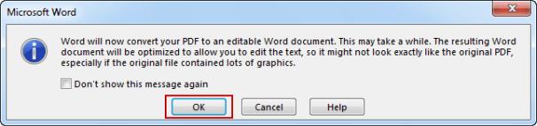 open PDF file in Word 2013