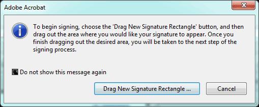 confirm drag signature on PDF file