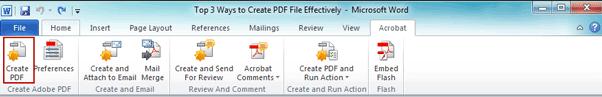create PDF file in Office edit window
