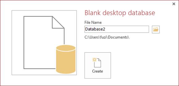 create access 2013 database