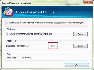 accdb password recovery
