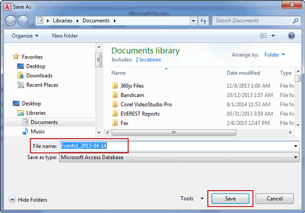 how to create backup copy of database access
