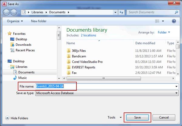 save access database backup