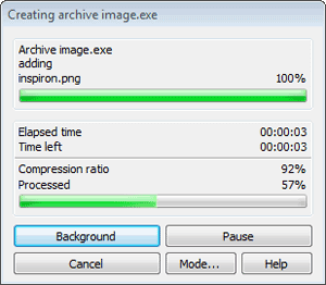 create SFX archive exe winrar