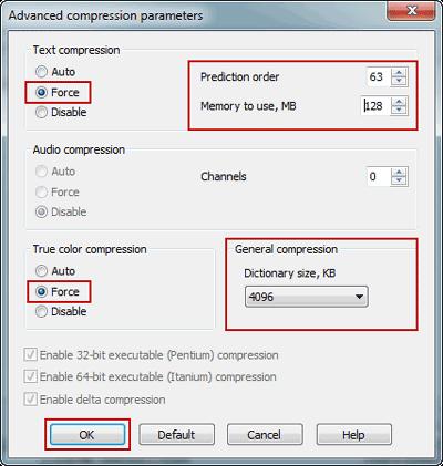 increase image compression ratio