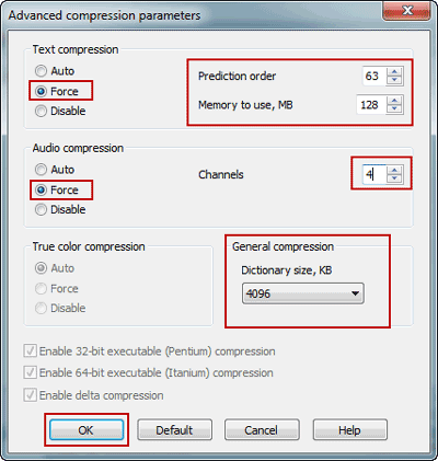 increase text and audio compression ratio