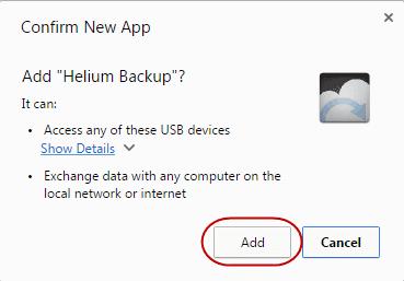 add Helium backup to Chrome