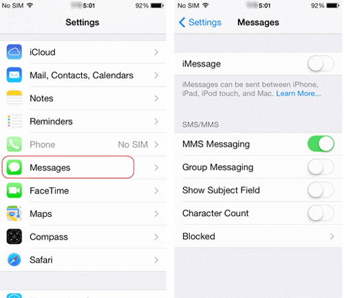 delete unnecessary messages to free up iPhone storage
