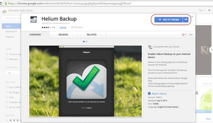 install Helium for Chrome