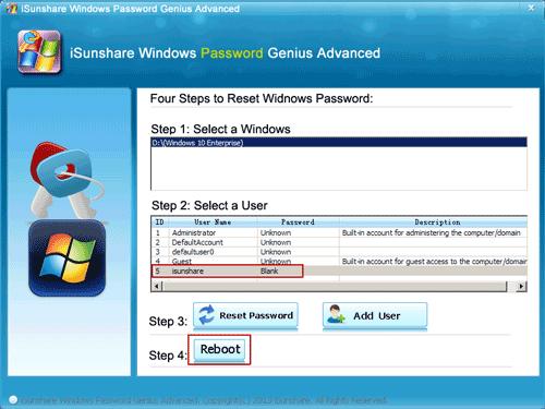restart windows 10 without entering password