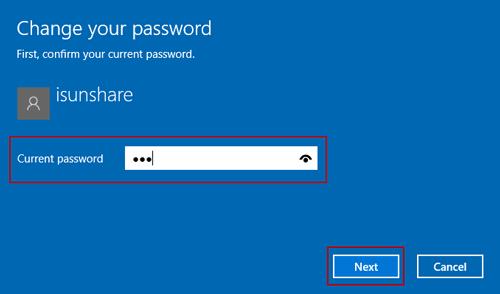 type current windows 10 user password