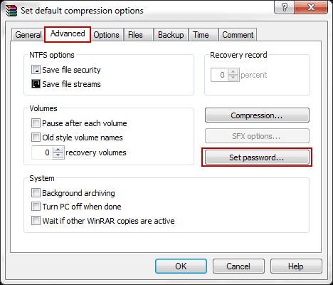 choose set a password option