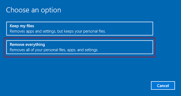 How to restore windows 10 to factory settings isunshare blog for How to choose windows