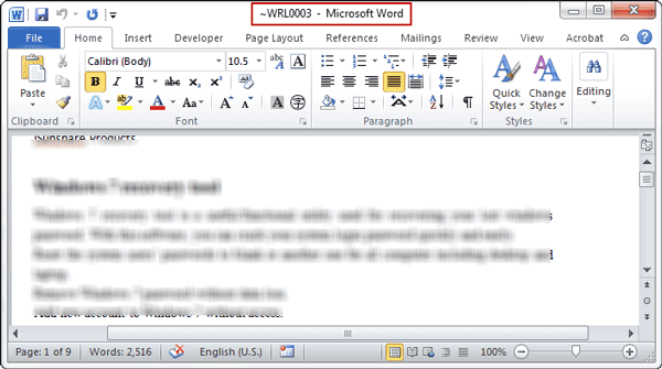 open temporary file in Word