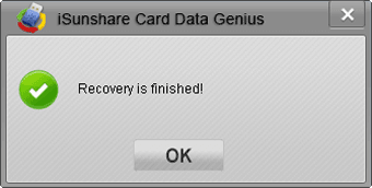 recover SD card data successfully
