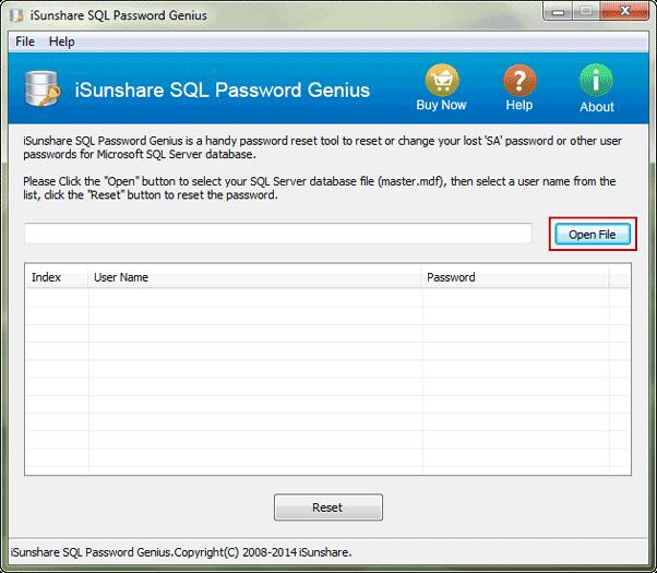 add SQL Server 2014 master MDF file
