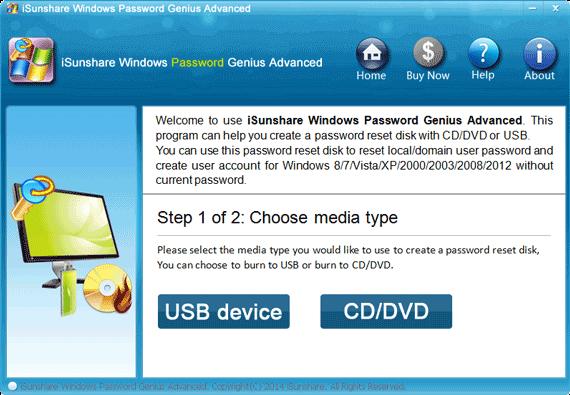 create Windows 8 password reset disk for UEFI-based Toshiba computer