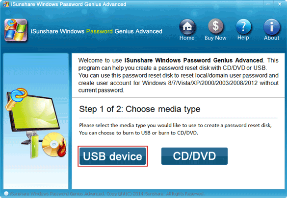 create dell pc windows password reset usb drive