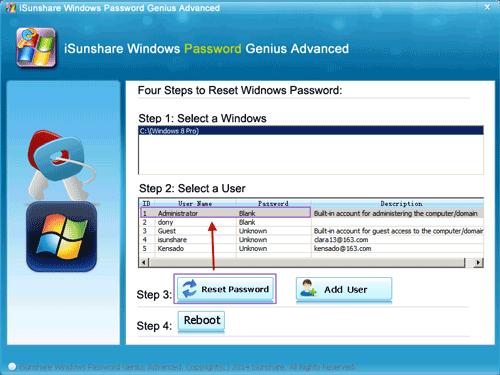 reset forgotten Windows 8 admin password for ThinkPad laptop with UEFI BIOS