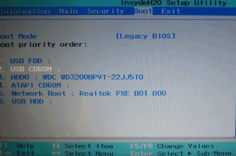 set UEFI-based dell pc boot from USB drive