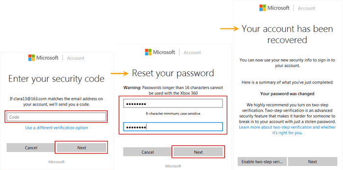 bypass Windows 8 Microsoft account forgotten password