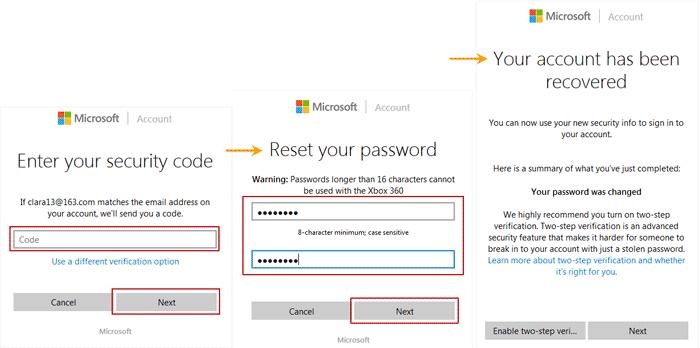 bypass Windows 8 Microsoft account forgotten password