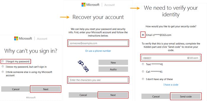 verify Windows 8 Microsoft account
