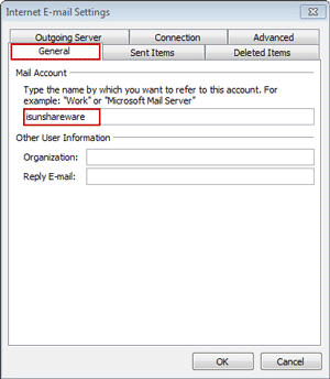change IMAP/POP3 account display name