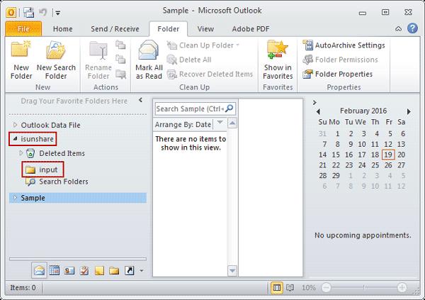 split pst file successfully by moving folder