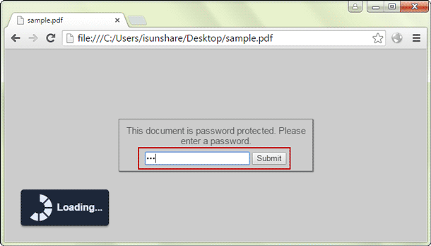 open PDF document in Google Chrome