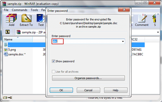 decrypt encrypted zip file with zip password genius